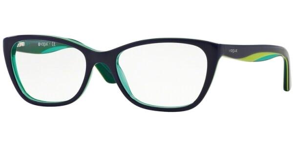 Dioptrické brýle Vogue model 2961, barva obruby modrá lesk, stranice modrá zelená lesk, kód barevné varianty 2311.