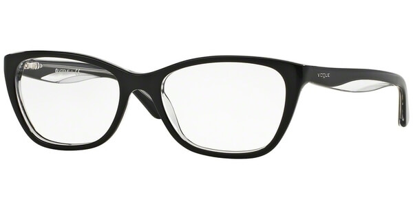 Dioptrické brýle Vogue model 2961, barva obruby černá lesk, stranice černá lesk, kód barevné varianty W827.