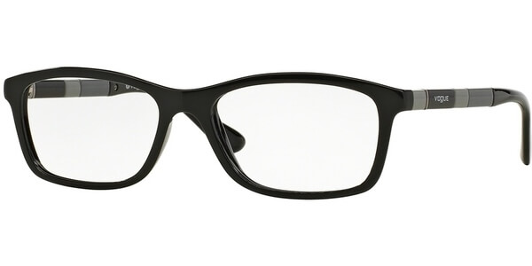 Dioptrické brýle Vogue model 2968, barva obruby černá lesk, stranice černá šedá lesk, kód barevné varianty W44.