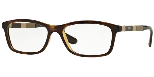 Dioptrické brýle Vogue model 2968, barva obruby hnědá lesk, stranice hnědá béžová lesk, kód barevné varianty W656.