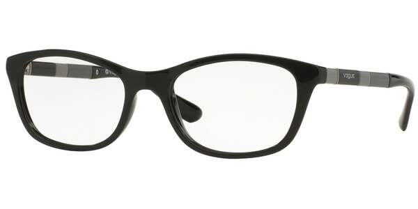 Dioptrické brýle Vogue model 2969, barva obruby černá lesk, stranice černá šedá lesk, kód barevné varianty W44.