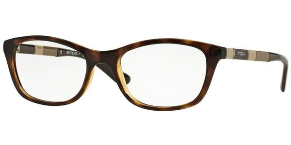 Dioptrické brýle Vogue model 2969, barva obruby hnědá lesk, stranice hnědá béžová lesk, kód barevné varianty W656.