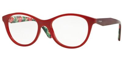 Dioptrické brýle Vogue model 2988, barva obruby červená lesk, stranice červená lesk, kód barevné varianty 2340.