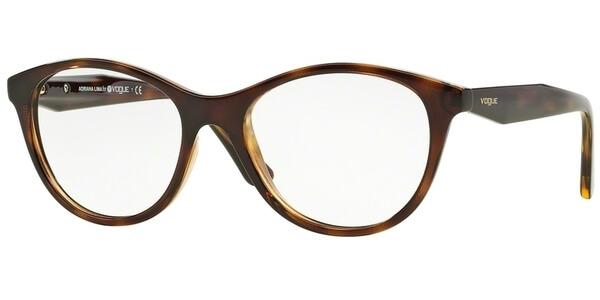 Dioptrické brýle Vogue model 2988, barva obruby hnědá lesk, stranice hnědá lesk, kód barevné varianty W656.
