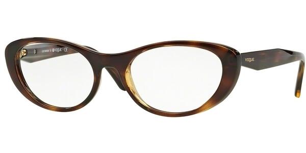 Dioptrické brýle Vogue model 2989, barva obruby hnědá lesk, stranice hnědá lesk, kód barevné varianty W656.