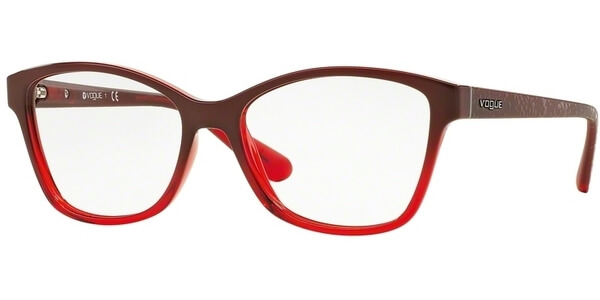 Dioptrické brýle Vogue model 2998, barva obruby červená lesk, stranice červená mat, kód barevné varianty 2348.