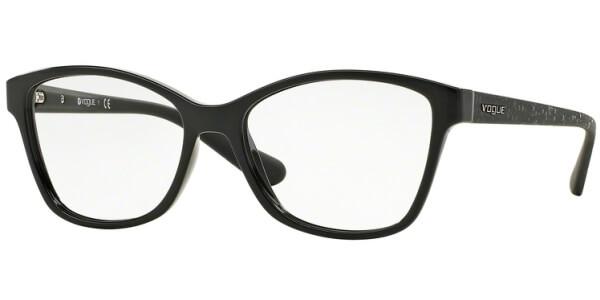 Dioptrické brýle Vogue model 2998, barva obruby černá lesk, stranice černá lesk, kód barevné varianty W44.