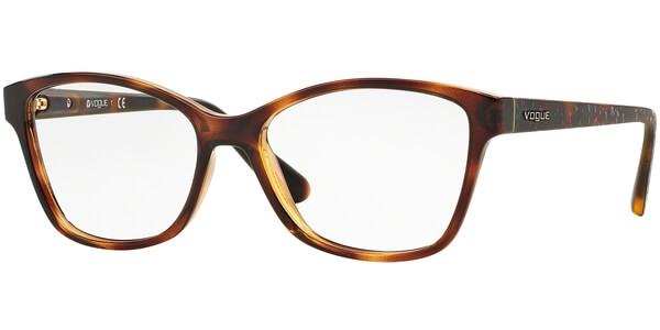 Dioptrické brýle Vogue model 2998, barva obruby hnědá lesk, stranice hnědá mat, kód barevné varianty W656.