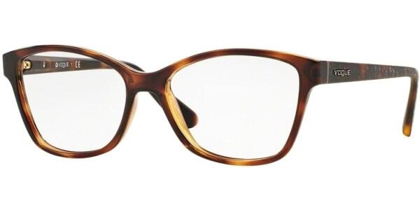 Dioptrické brýle Vogue model 2998, barva obruby hnědá lesk, stranice hnědá lesk, kód barevné varianty W656.