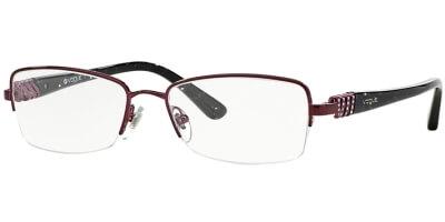 Dioptrické brýle Vogue model 3813B, barva obruby fialová lesk, stranice černá lesk, kód barevné varianty 812.