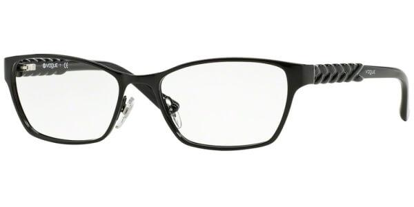 Dioptrické brýle Vogue model 3947, barva obruby černá lesk, stranice černá lesk, kód barevné varianty 352.