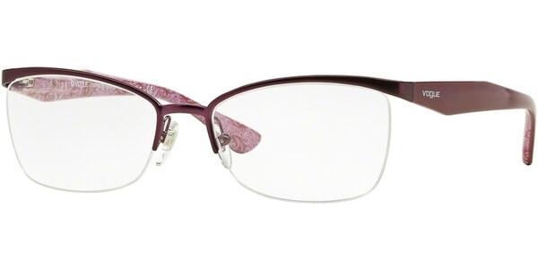 Dioptrické brýle Vogue model 3981, barva obruby vínová mat, stranice vínová lesk, kód barevné varianty 812S.