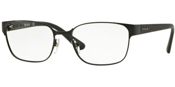 Dioptrické brýle Vogue model 3986, barva obruby černá mat, stranice černá mat, kód barevné varianty 352S.