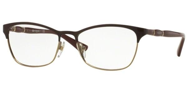 Dioptrické brýle Vogue model 3987B, barva obruby vínová lesk, stranice vínová lesk, kód barevné varianty 986.