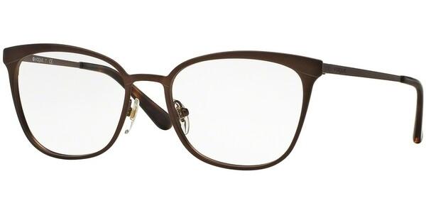 Dioptrické brýle Vogue model 3999, barva obruby hnědá mat, stranice hnědá mat, kód barevné varianty 934S.
