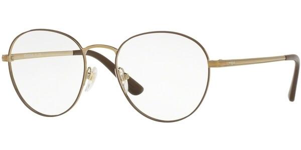 Dioptrické brýle Vogue model 4024, barva obruby hnědá zlatá lesk, stranice zlatá lesk, kód barevné varianty 5021.