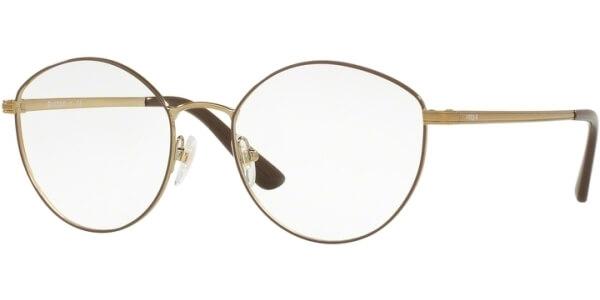 Dioptrické brýle Vogue model 4025, barva obruby hnědá zlatá lesk, stranice zlatá lesk, kód barevné varianty 5021.