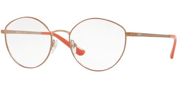 Dioptrické brýle Vogue model 4025, barva obruby růžová bronzová mat, stranice bronzová mat, kód barevné varianty 5022.