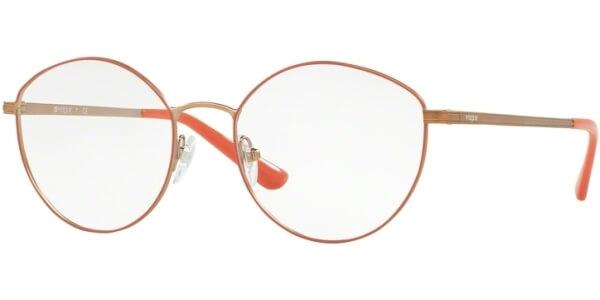Dioptrické brýle Vogue model 4025, barva obruby růžová bronzová mat, stranice bronzová lesk, kód barevné varianty 5022.