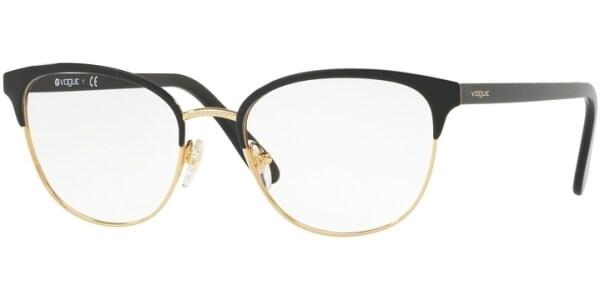 Dioptrické brýle Vogue model 4088, barva obruby černá zlatá lesk, stranice černá lesk, kód barevné varianty 352.