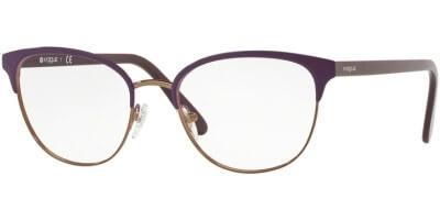 Dioptrické brýle Vogue model 4088, barva obruby fialová hnědá lesk, stranice fialová lesk, kód barevné varianty 5083.
