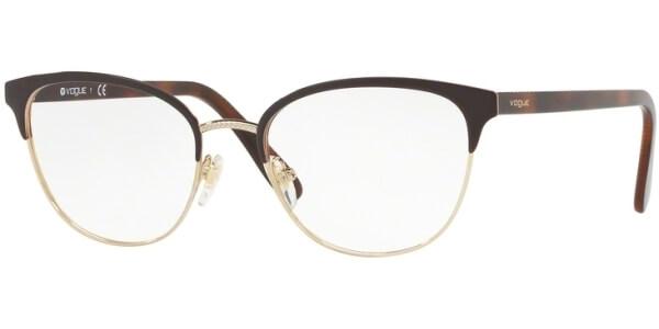 Dioptrické brýle Vogue model 4088, barva obruby hnědá zlatá lesk, stranice hnědá lesk, kód barevné varianty 997.