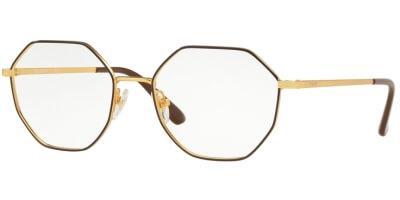 Dioptrické brýle Vogue model 4094, barva obruby hnědá zlatá lesk, stranice zlatá lesk, kód barevné varianty 997.