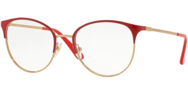 Dioptrické brýle Vogue model 4108, barva obruby červená zlatá lesk, stranice zlatá lesk, kód barevné varianty 5100.
