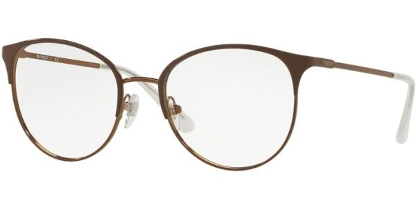 Dioptrické brýle Vogue model 4108, barva obruby hnědá lesk, stranice hnědá lesk, kód barevné varianty 5101.