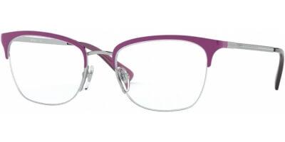 Dioptrické brýle Vogue model 4144B, barva obruby fialová stříbrná lesk, stranice stříbrná lesk, kód barevné varianty 5117.