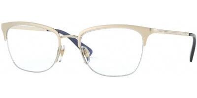 Dioptrické brýle Vogue model 4144B, barva obruby zlatá lesk, stranice zlatá lesk, kód barevné varianty 848.