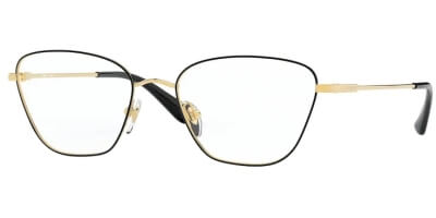Dioptrické brýle Vogue model 4163, barva obruby černá zlatá lesk, stranice zlatá lesk, kód barevné varianty 280.