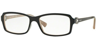 Dioptrické brýle Vogue model 5001B, barva obruby modrá hnědá lesk, stranice modrá lesk, kód barevné varianty 2350.