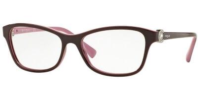 Dioptrické brýle Vogue model 5002B, barva obruby vínová lesk, stranice vínová lesk, kód barevné varianty 2321.