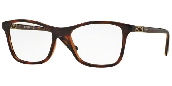 Dioptrické brýle Vogue model 5028, barva obruby hnědá lesk, stranice hnědá lesk, kód barevné varianty 2386.