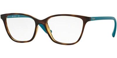 Dioptrické brýle Vogue model 5029, barva obruby hnědá lesk, stranice tyrkysová lesk, kód barevné varianty 2393.