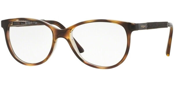 Dioptrické brýle Vogue model 5030, barva obruby hnědá čirá lesk, stranice hnědá čirá lesk, kód barevné varianty 1916.