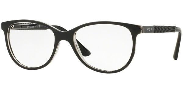 Dioptrické brýle Vogue model 5030, barva obruby černá čirá lesk, stranice černá lesk, kód barevné varianty W827.