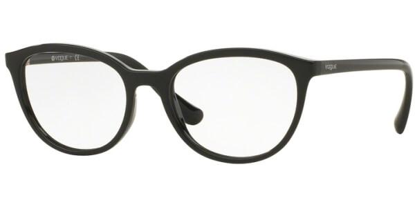 Dioptrické brýle Vogue model 5037, barva obruby černá lesk, stranice černá lesk, kód barevné varianty W44.
