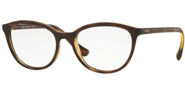 Dioptrické brýle Vogue model 5037, barva obruby hnědá lesk, stranice hnědá lesk, kód barevné varianty W656.
