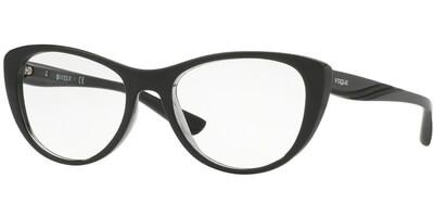 Dioptrické brýle Vogue model 5102, barva obruby černá čirá lesk, stranice černá lesk, kód barevné varianty 2385.