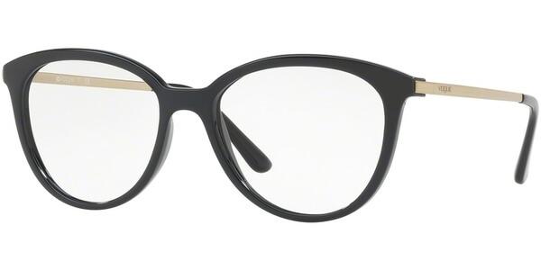 Dioptrické brýle Vogue model 5151, barva obruby černá lesk, stranice zlatá lesk, kód barevné varianty W44.