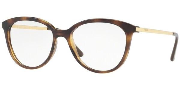 Dioptrické brýle Vogue model 5151, barva obruby hnědá lesk, stranice zlatá lesk, kód barevné varianty W656.