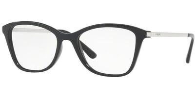 Dioptrické brýle Vogue model 5152, barva obruby černá lesk, stranice stříbrná lesk, kód barevné varianty W44.