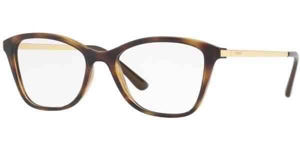 Dioptrické brýle Vogue model 5152, barva obruby hnědá lesk, stranice zlatá lesk, kód barevné varianty W656.