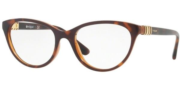 Dioptrické brýle Vogue model 5153, barva obruby hnědá mat, stranice hnědá lesk, kód barevné varianty 2386.