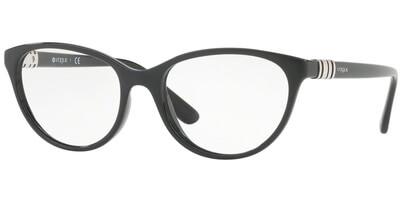 Dioptrické brýle Vogue model 5153, barva obruby černá lesk, stranice černá lesk, kód barevné varianty W44.