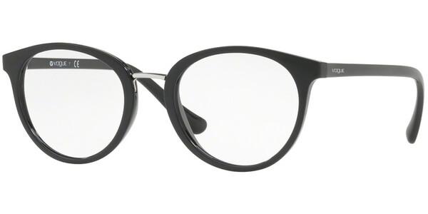 Dioptrické brýle Vogue model 5167, barva obruby černá lesk, stranice černá lesk, kód barevné varianty W44.