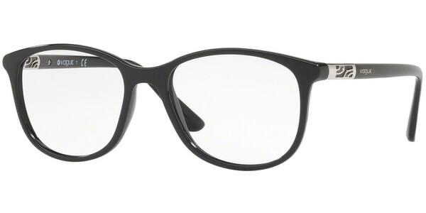 Dioptrické brýle Vogue model 5168, barva obruby černá lesk, stranice černá lesk, kód barevné varianty W44.