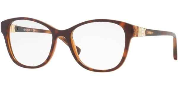 Dioptrické brýle Vogue model 5169B, barva obruby hnědá mat, stranice hnědá zlatá lesk, kód barevné varianty 2386.